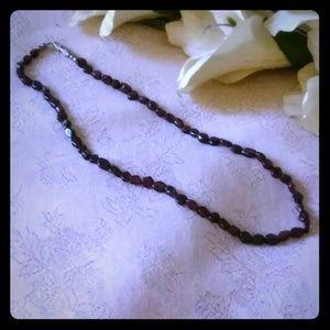 Jewelry - Vintage Garnet Beads Choker Necklace